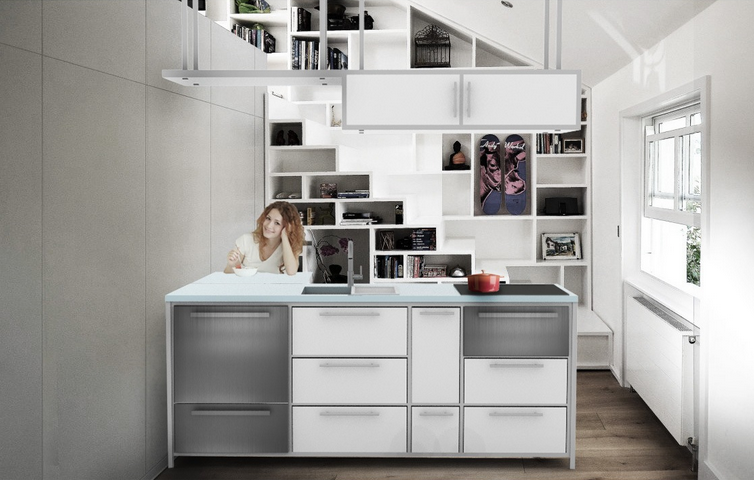 the atol adaptable and customizable micro kitchen design submitted by shannon ruhl of louisville ky is a kitchen island that can change as your lifestyle - Micro Kitchen