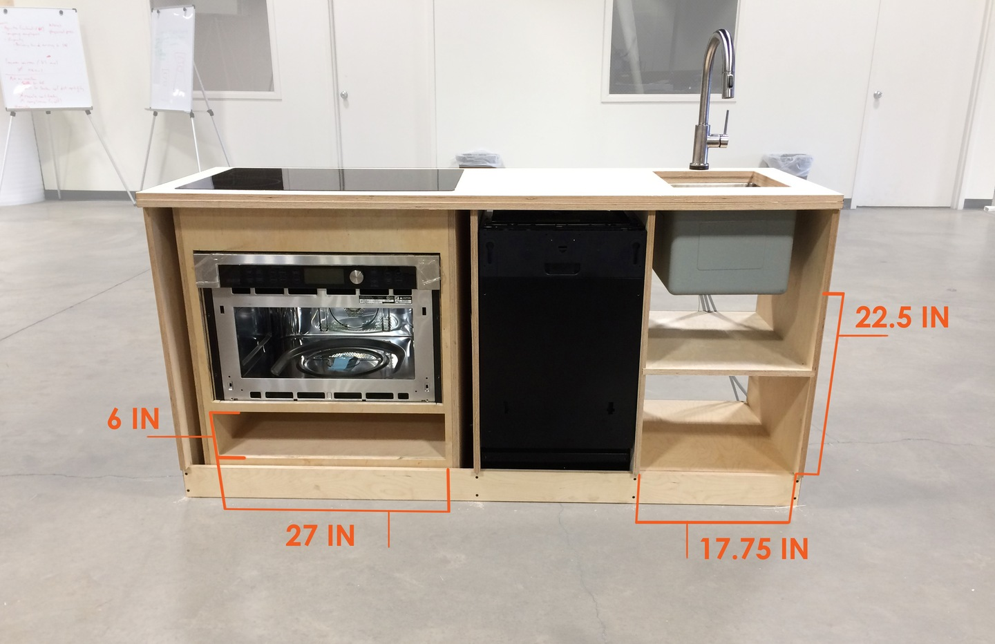 the micro kitchen