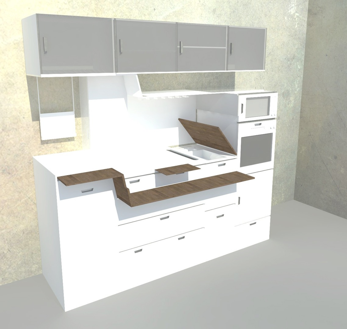 Micro Kitchen the lolo micro kitchen was designed by young russian designers tanya and misha repin their concept stayed away from stereotypical Micro Kitchen Ideas Micro Kitchen By Arkritecture